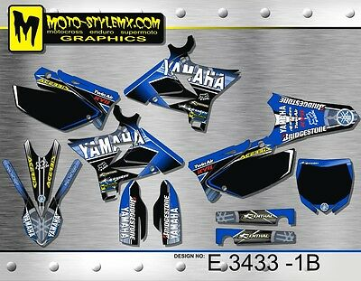 AU169.90 • Buy Yamaha YZ 125 250 2002 Up To 2014 UFO RESTYLED Decals Graphics Kit Moto StyleMX