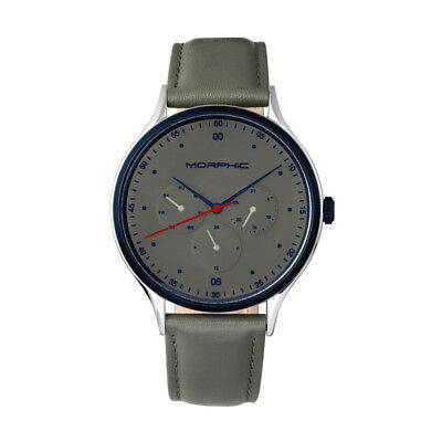 $179 • Buy Morphic M65 Series Men's Grey Leather Watch W/ Day Date 6505