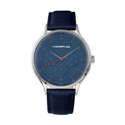 $179 • Buy Morphic M65 Series Men's Blue Leather Watch W/ Day Date 6506
