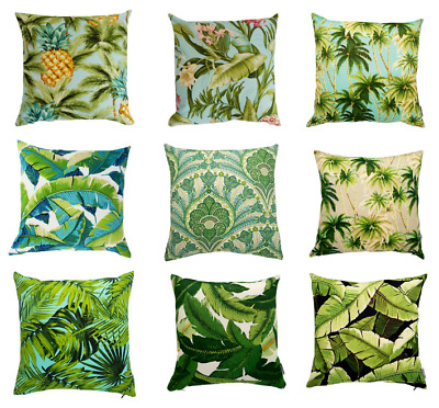 AU39.99 • Buy Green Tropical Palm Indoor/Outdoor Cushion Covers (Australian Made)