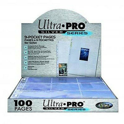Ultra Pro 9-pocket Trading Card A4 Sleeves Silver Series Pages 10 - 100 Pages • 3.79£