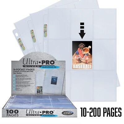£3.99 • Buy Ultra Pro 9-pocket Trading Card A4 Sleeves Silver Series Pages 10 - 100 Pages