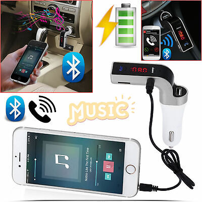 New Bluetooth Car Kit Wireless FM Transmitter Dual USB Charger Audio MP3 Player • 5.99£