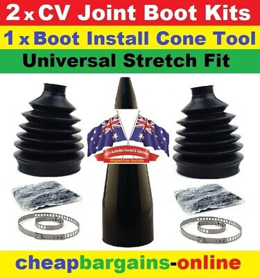 AU39.99 • Buy Cv Joint Boot Kit & Cone Fitting Tool Universal Fit Cone Tool Boot Grease Clamps