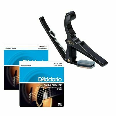 $ CDN71.77 • Buy Kyser 6-String Acoustic Guitar Capo With 2 Sets Of D'addario EJ11 Strings 12-53