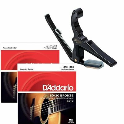$ CDN71.77 • Buy Kyser 6-String Acoustic Guitar Capo With 2 Sets Of D'addario EJ12 Strings 13-56