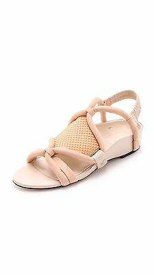 3.1 Phillip Lim Peach-Oyster Pink Marquise Flat Sandals UK 5.5/38.5 • 80£