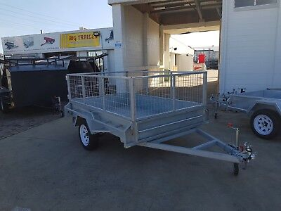 AU2050 • Buy 8x5 Single Axle 2ft Cage Trailer Galvanised Box Trailer, HEAVY DUTY | Townsville