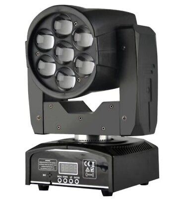 7x12W Zoom Wash Beam LED Moving Head Light For DJ Stage Disco Event Party Show • 139£