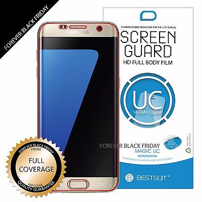 $ CDN3.81 • Buy 2 Piece Samsung Galaxy S7 Edge Full Coverage Clear Screen Protector Cover Guard