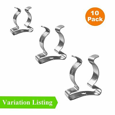 10 X Wide Base Tool Spring Terry Clips Heavy Duty Tool Storage Hangers • 4.49£