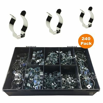 240 X Assorted Narrow Base Tool Spring Terry Clips / Heavy Duty Storage Hangers • 31.99£