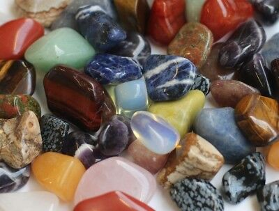£4.99 • Buy Crystals 20 - 30mm - Large Tumblestones - Wholesale Mixed Crystals 25g ~ 1kg