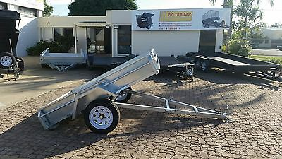 AU1700 • Buy 7x5  SINGLE AXLE GALVANISED BOX TRAILER FOR SALE MANAUL TILT - TOWNSVILLE QLD