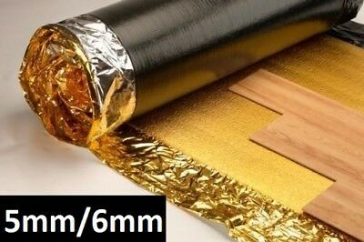 5mm 6mm Or 7mm Sonic Gold Underlay - Wood Or Laminate Flooring - 1x FREE TAPE • 30.50£