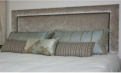 £67.95 • Buy Top Quality New  Luxury Studded Headboard In Linen Fabric In Tall 26