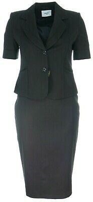 Womens 14 To 24 Lovely New Black Lace Detail Blazer With Skirt Suit Bnwt Ladies • 24.47£