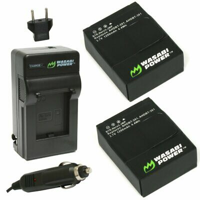 $ CDN20.29 • Buy Wasabi Power Battery (2-Pack) And Charger For GoPro HERO3+, HERO3