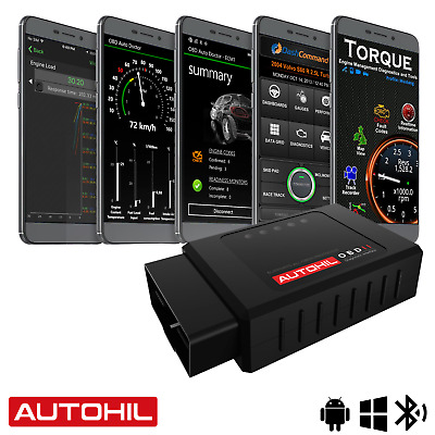 AU35 • Buy Autohil OBD2 Bluetooth Scan Tool For Android Car OBD Scanner Engine Code Reader