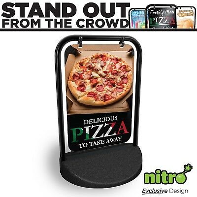 Pizza Take Away Shop Swinging Pavement Sign Outdoor Shop A-Board Pizzeria Pizza • 72.99£