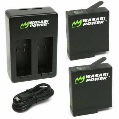 $ CDN24.04 • Buy Wasabi Power Battery (2-Pack) And Dual Charger For GoPro HERO7 Black, HERO6,