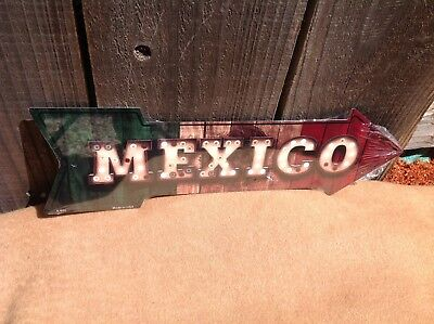 Mexico This Way To Arrow Sign Directional Novelty Metal 17  X 5  • 13.95$