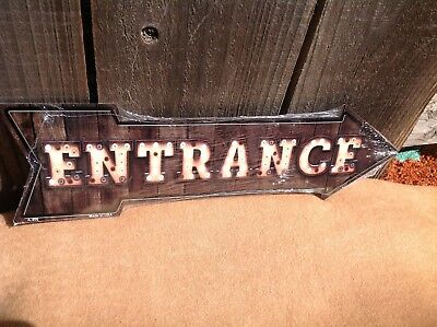 Entrance This Way To Arrow Sign Directional Novelty Metal 17  X 5  • 13.95$