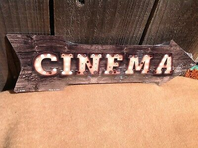Cinema This Way To Arrow Sign Directional Novelty Metal 17  X 5  • 13.95$