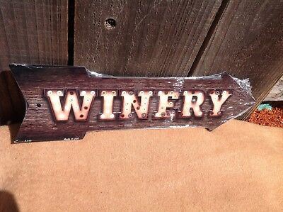 Winery This Way To Arrow Sign Directional Novelty Metal 17  X 5  • 13.95$