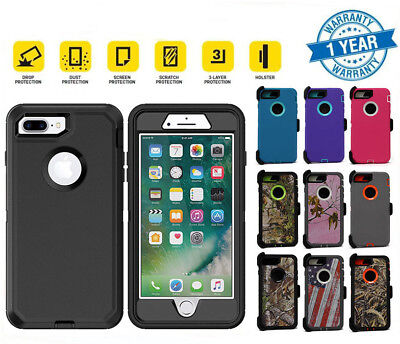 AU16.62 • Buy For IPhone 7 / 8 Plus Shockproof Case Belt Clip | Fits Otterbox Defender Series