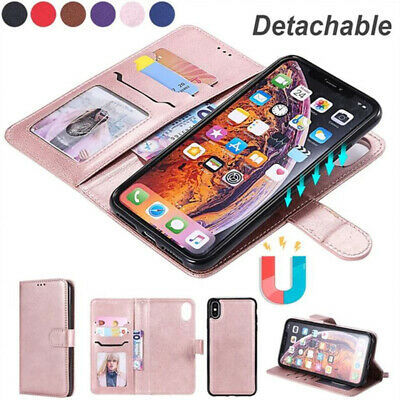 AU15.99 • Buy IPhone 11 Case Pro MAX IPhone 6 7 8 Plus Magnetic Leather Removable Wallet Cover