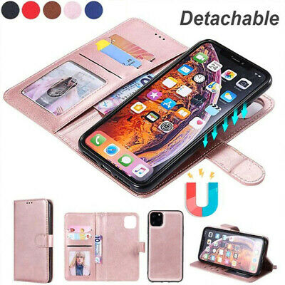 AU15.99 • Buy IPhone 12 Mini 11 Pro Max XS XR 8 7 Magnetic Leather Removable Wallet Case Cover