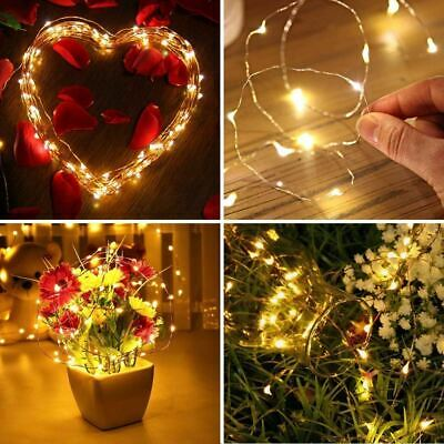 20 40 100 LED Battery Operated Fairy Lights Christmas Tree Wedding Party Decor • 3.49£