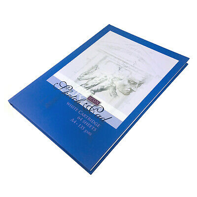 £6.99 • Buy A4 Sketch Book- 135gsm - Black Hard Cover Sketching Pad 64 Sheets - Artist Book