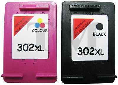 302 XL Black & Colour Remanufactured Ink Cartridges For HP Envy 4527 Printers • 27.95£
