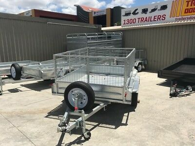 AU1900 • Buy 7x5  GALVANISED CAGE TRAILER - HEAVY DUTY | FULL CHECKERPLATE | TOWNSVILLE | QLD