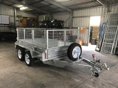 AU3100 • Buy 8x5 TANDEM GALVANISED CAGE TRAILER | FULL CHECKERPLATE | HEAVY DUTY | TOWNSVILLE