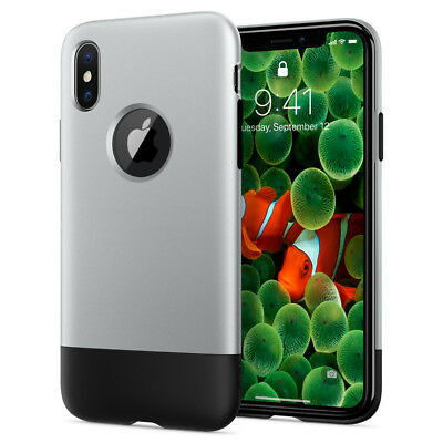 AU20.76 • Buy Apple IPhone X, 8, 8 Plus Case Spigen® [Classic One Retro] 10th Anniversary