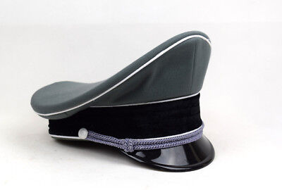 Replica WW2 German Whipcord Military Elite Officer Hat Cap 57 58 59 60 • 17.50£