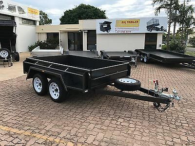 AU3800 • Buy 9x5 TANDEM BUDGET SPECIAL TRAILER 15  HIGH SIDES FULL CHECKERPLATE | TOWNSVILLE