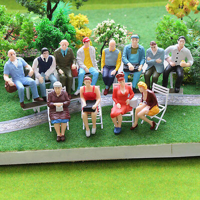$2.89 • Buy 100PC Scale 1:150 Mix Painted Model Train Street Passenger People Figures & O0B4