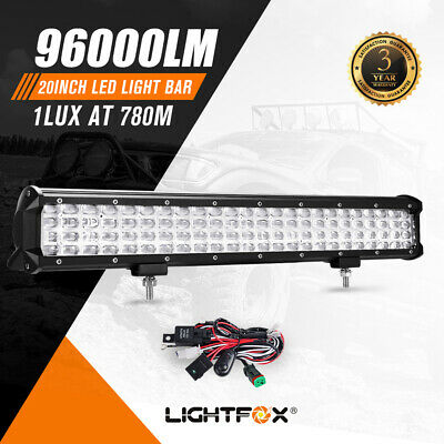 AU74.95 • Buy 20Inch Cree LED Light Bar Quad Row Spot Beam Work Driving Lights Offroad 4WD