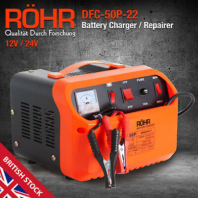 View Details Car Battery Charger, Portable Pulse Repair 12V & 24V Intelligent Smart Charger   • 79.99£