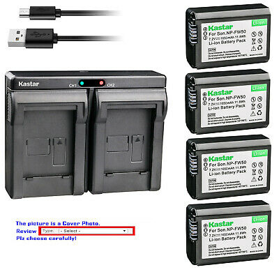 $ CDN39.01 • Buy Kastar Battery Slim Dual Charger For Sony NP-FW50 BC-VW1 & ILCE-6000 Alpha A6000
