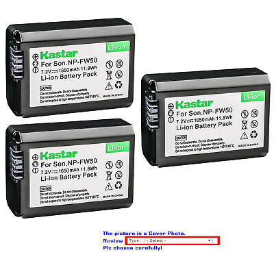 $ CDN17.66 • Buy Kastar Replacement Battery For Sony NP-FW50 BC-VW1 & Sony ILCE-6000 Alpha A6000