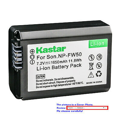 $ CDN11.32 • Buy Kastar Replacement Battery For Sony NP-FW50 BC-VW1 & Sony ILCE-6500 Alpha A6500