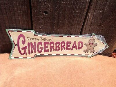 Gingerbread Cookies This Way To Arrow Sign Directional Novelty Metal 17  X 5  • 13.95$