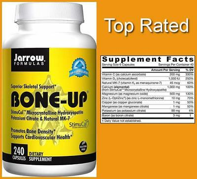 £17.51 • Buy BONE UP JARROW FORMULAS Promotes Bone Density And Cardiovascular Health 240CT