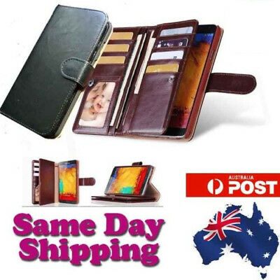 AU6.95 • Buy New Phone Wallet Case Cover For Apple Iphone 6 & 6 Plus Brown Black Card Holder