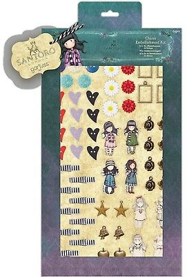 £5.99 • Buy Docrafts Santoro Gorjuss Embellishment Kit Of 64 Pieces Characters Buttons Pegs